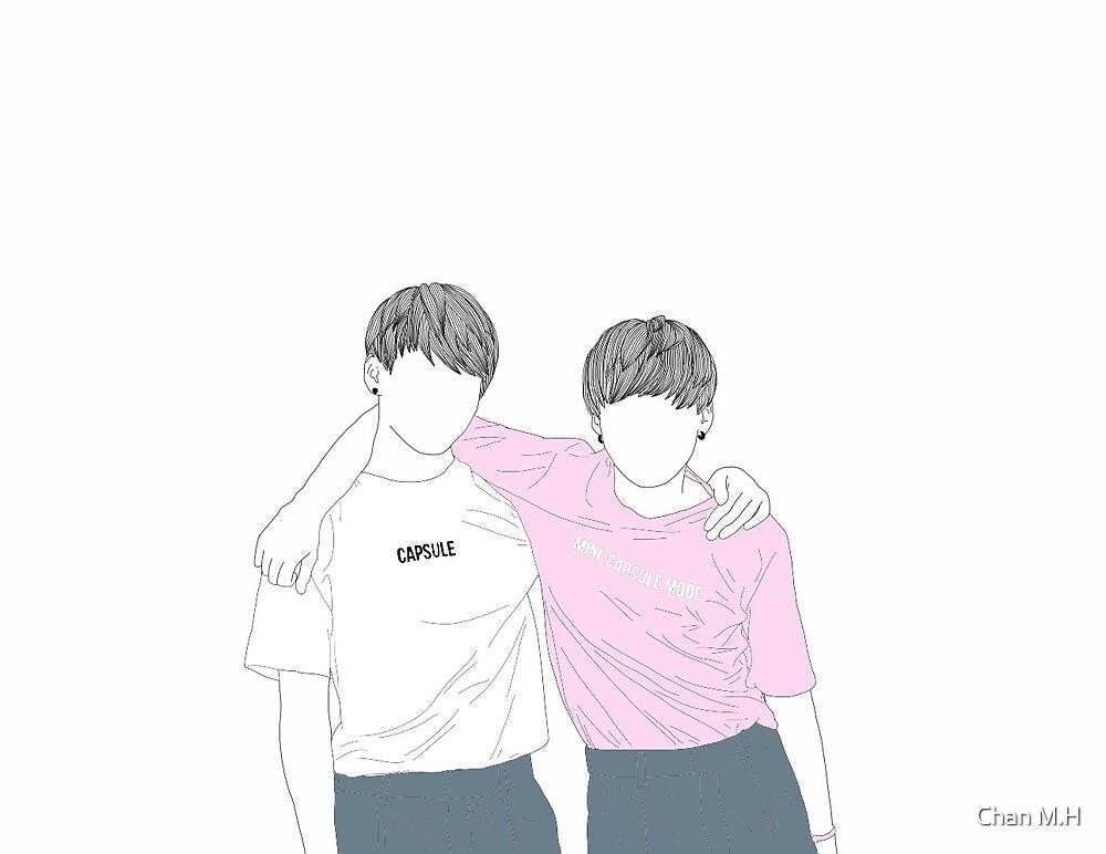 Suga and Jungkook BTS Festa  by Chan M.H