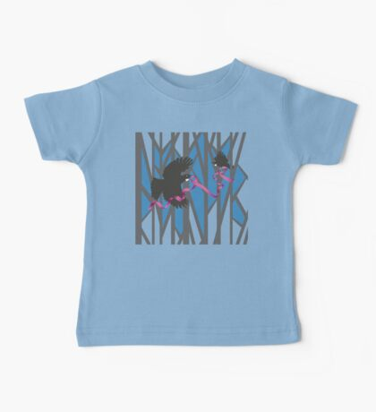 Flying Tui in Forest with Pink Ribbon Kids Clothes