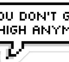Phantogram You don't get me High Anymore pixel sticker Sticker