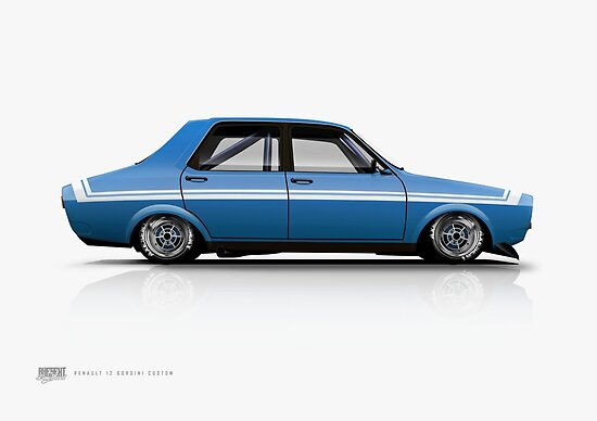 renault 12 gordini custom 2 posters by kanseigazou redbubble. Black Bedroom Furniture Sets. Home Design Ideas