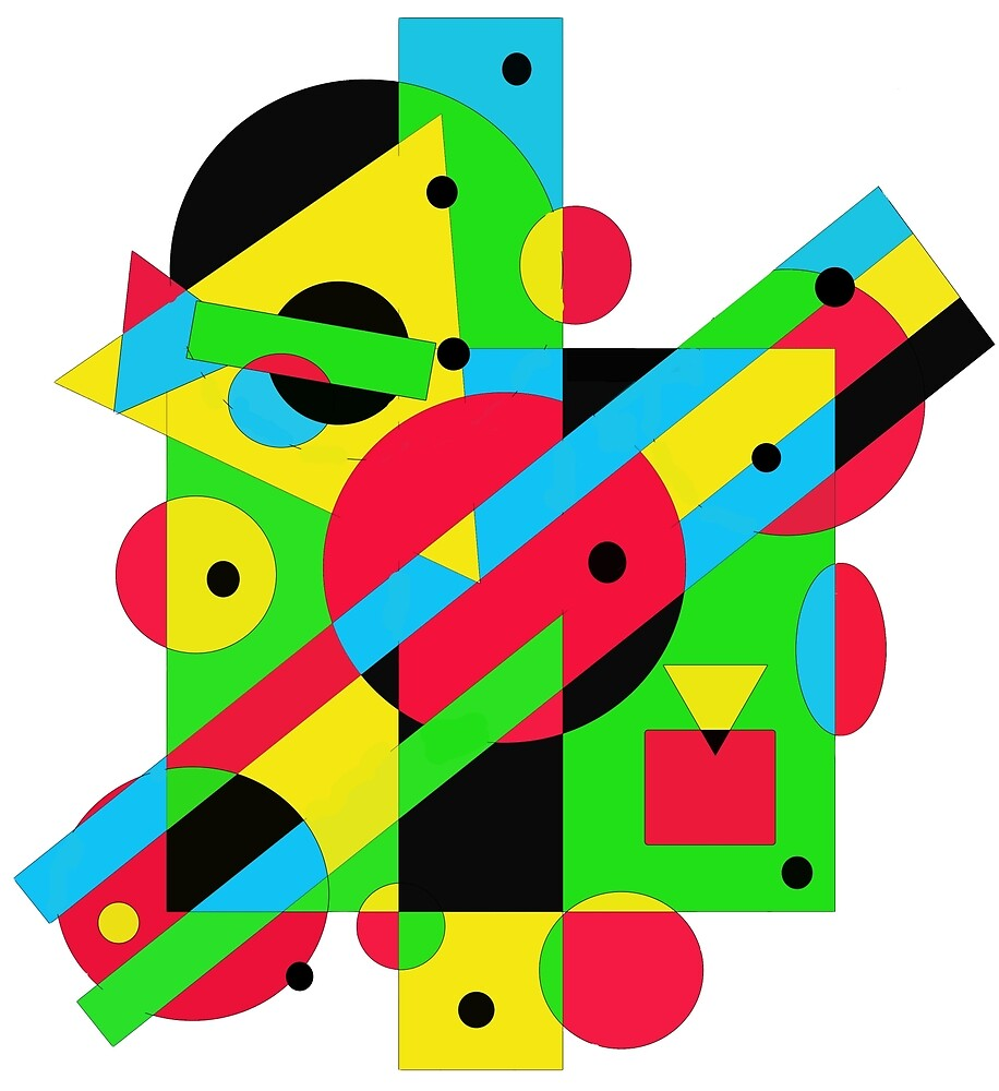 Playful geometric colorful design by Moma by ValentinaHramov