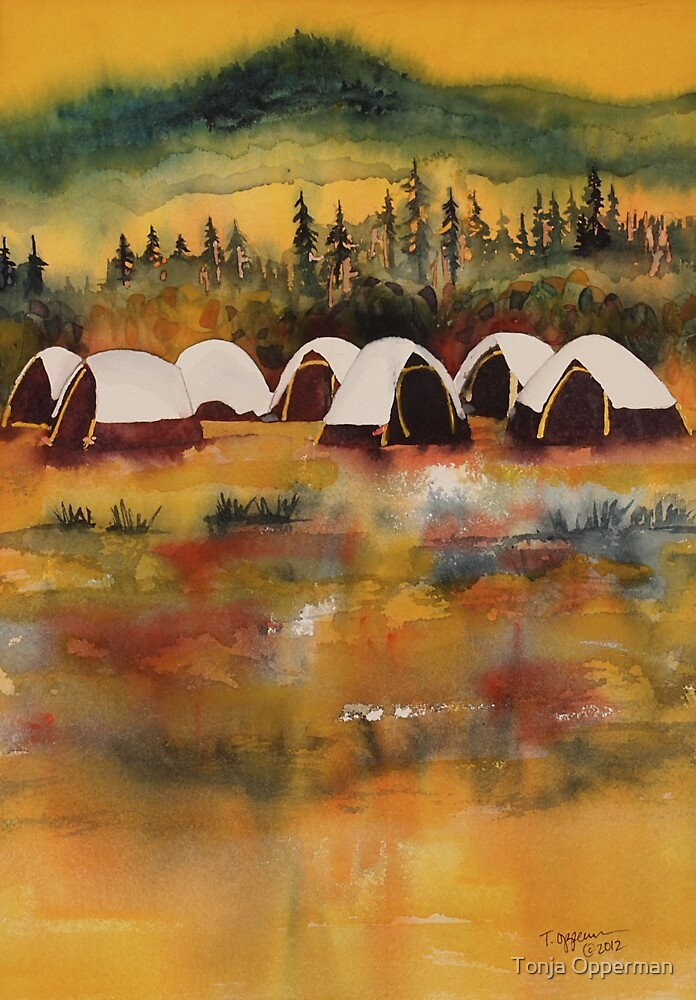 Fire Camp #1 by Tonja Opperman