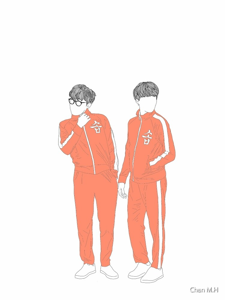 Suga and JHope (w/ colour) by Chan M.H