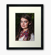 Teenage Beauty Framed Print