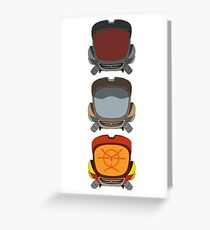 FLCL - Canti Heads Greeting Card