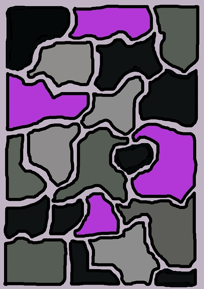 Grey and purple design by Moma by ValentinaHramov