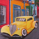 Yellow Car by Ann Biddlecombe