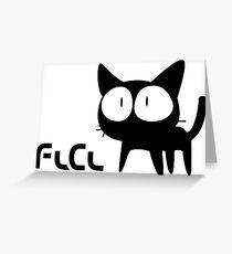 FLCL - Cat Greeting Card