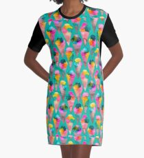 ice cream cones  Graphic T-Shirt Dress