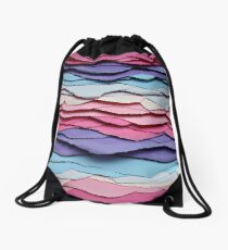 colour waves I Drawstring Bag