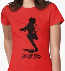 Winter Soldier - End of the Line - Silhouette (B) Women's Fitted T-Shirt