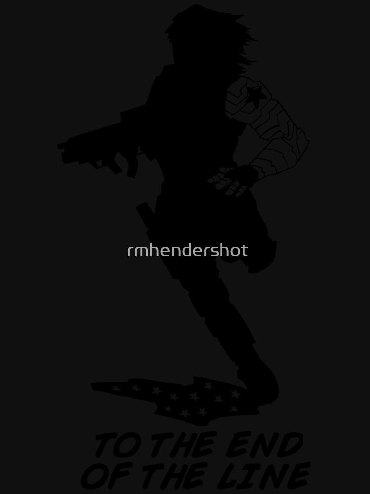 Winter Soldier - End of the Line - Silhouette (B) von rmhendershot