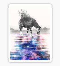 Okapi Drinking Space Sticker