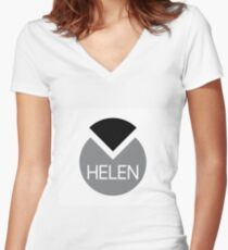 american first name female: Helen Women's Fitted V-Neck T-Shirt