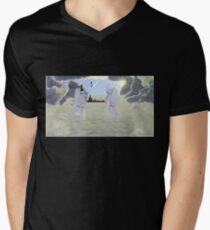 Intergalactic Chess Mens V-Neck T-Shirt