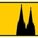 Ortsschild Köln mit Kölner Dom von theshirtshops