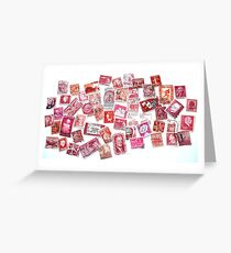 Postage stamp greeting cards redbubble the world in red greeting card m4hsunfo