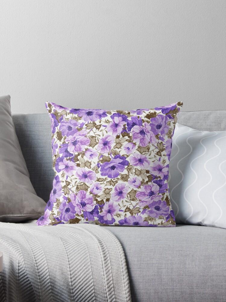Purple Flower Pattern by whatemma