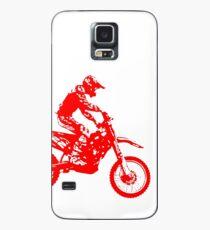 Motocross red Hülle & Skin für Samsung Galaxy