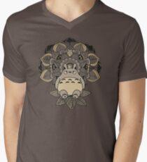 Mandala Nachbar T-Shirt mit V-Ausschnitt