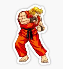 Ken - Hadoken fighter Sticker