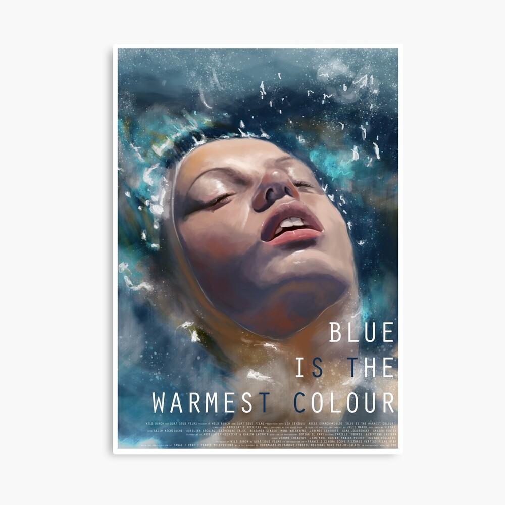 El azul es el color más cálido Lienzo