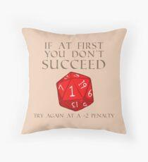 Try Again D20 Throw Pillow
