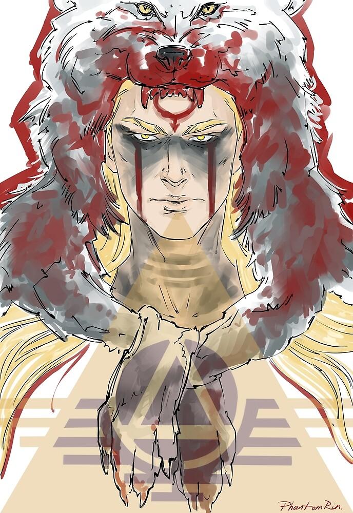 red wolf by PhantomRin