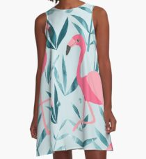 Flamingo fever A-Line Dress