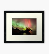 Northern Lights with Bow Fiddle Framed Print