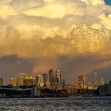 New York Skyline at Sunset by sherfin