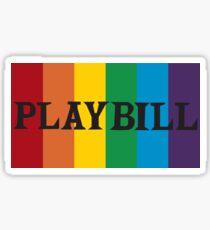 Pride Playbill Header Sticker