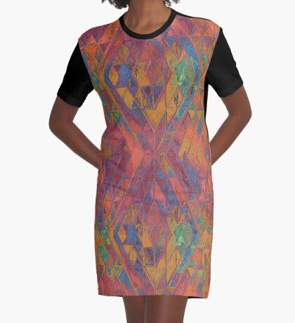Glitch Pattern No.1 Graphic T-Shirt Dress