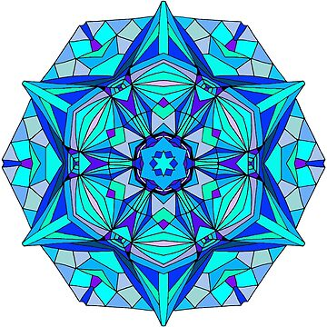 Blue Star Mandala by SynicalShirts