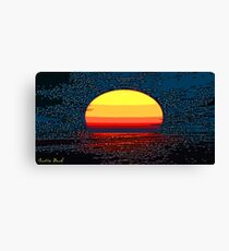 Picture 2015064 Justin Beck setting sun Canvas Print