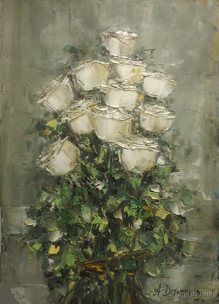 White roses by anadawani