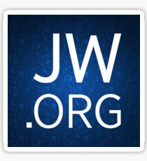 JW.org Design with Floral Background Sticker