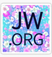 JW.org (bright blue and pink flowers) Sticker