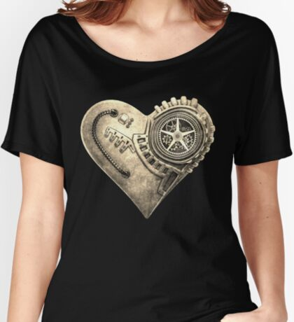 Steampunk Vintage Clockwork Heart Steampunk T-Shirts Women's Relaxed Fit T-Shirt