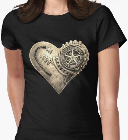 Steampunk Vintage Clockwork Heart Steampunk T-Shirts T-Shirt