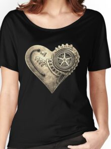 Steampunk Vintage Clockwork Heart Women's Relaxed Fit T-Shirt