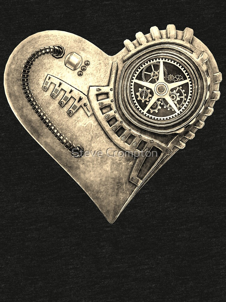 Steampunk Vintage Clockwork Heart Steampunk T-Shirts by SC001
