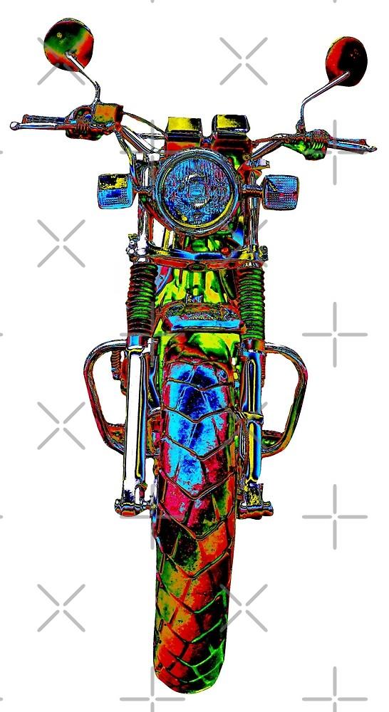 Motorrad frontal bunt by freaks13
