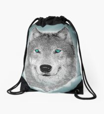 Wise Wolf Justin Beck Picture 2015089 Drawstring Bag