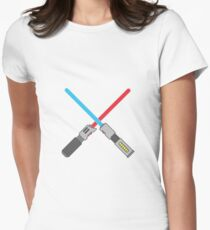 Light Sabers Womens Fitted T-Shirt