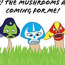 Luchador mushrooms! by thinkinsideways