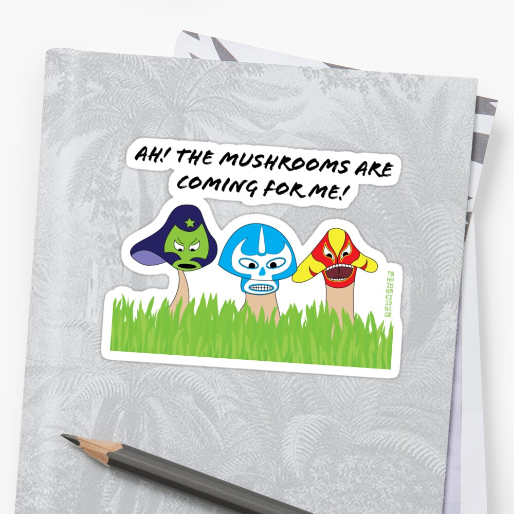 Luchador mushrooms! by thinkinsideways