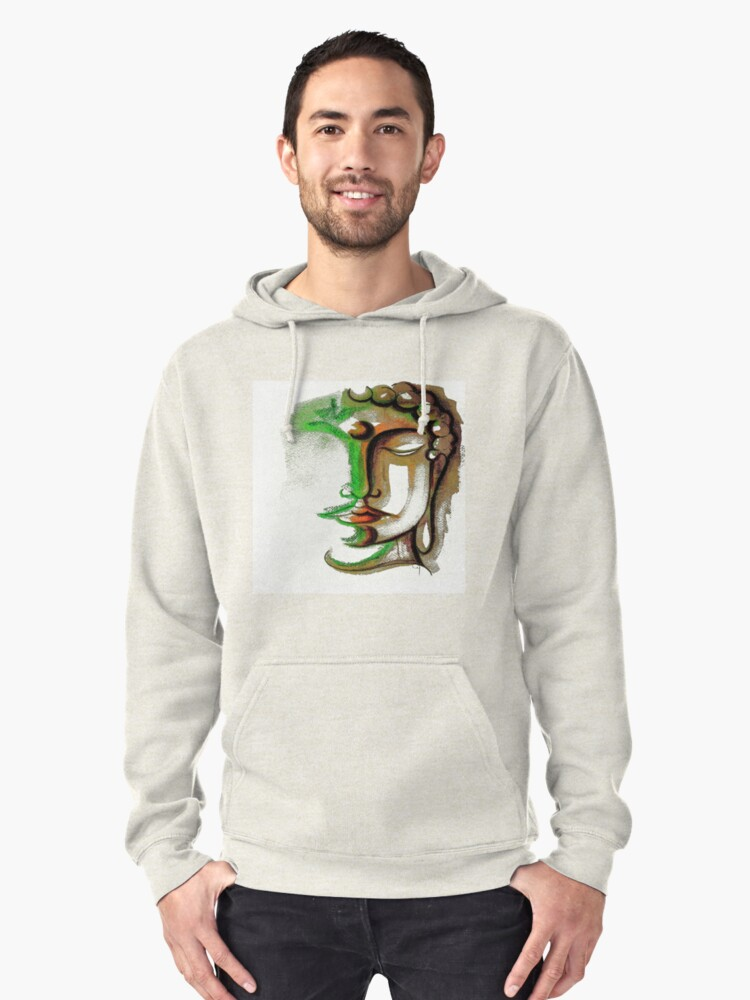 BUDDHA FACE 1 Pullover Hoodie Front