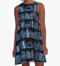 Keep Reading. Black. A-Line Dress