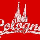 Cologne Classic Vintage Rot/Weiß von theshirtshops